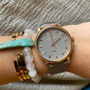LIKE NEW! Marc Jacobs Grey and Rose Gold Watch